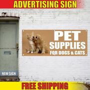 Pet Supplies For Dogs And Cats Advertising Banner Vinyl Mesh Decal Sign Shop Zoo