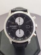 S/steel Mens Baume And Mercier Geneve Chronograph Automatic Watch 65591