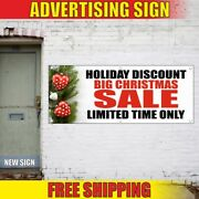 Holiday Discount Big Christmas Sale Advertising Banner Vinyl Mesh Decal Sign Now