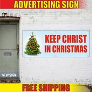 Keep Christ In Christmas Advertising Banner Vinyl Mesh Decal Sign Xmas New Year