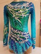 Rhythmic Gymnastic Leotard For 9-11 Years Old Girl.costume For A Competitions.