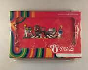 2012 London Olympics Coca Cola Beatles Musical Jigsaw 5 Pin Set In Case