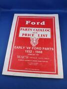 Ford Parts Catalog Price List Mac's Antique Auto Parts 1992 Covers V8 1932-1948