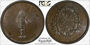 Bank Token Canada 1 Penny 1837 Ms63 Bn Pcgs Lc-9a2 City Bank Finest And Only Rare