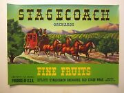 Wholesale Lot Of 25 Old Vintage - Stagecoach - Fruit Labels - Western - Green