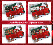 Red Truck Express Delivery Christmas Santa Greeting Cards Dogs Cats Photos