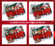 Christmas Santa Greeting Cards With Dog Cat Pet Photos,invitation Card Red Truck
