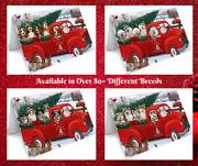 Christmas Santa Greeting Cards With Dog Cat Pet Photosinvitation Card Red Truck