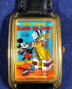 Vintage Lorus | Mickey Mouse And Pluto In Society Dog Show Watch | Super Rare