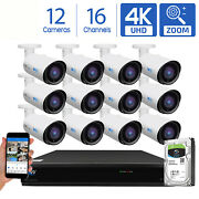Gw 16 Channel Dvr 12 8mp Cctv Motorized Zoom 4k Outoodor Security Camera System