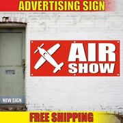 Air Show Advertising Banner Vinyl Sign Flag Sky Airplane Aviation Exhibition New