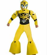 Transformers Prime Deluxe 3-d Padded Size 7-8 Medium Bumblebee Costume New 2012