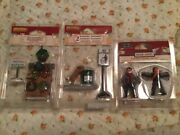Lemax Village Collection Lot Of 3 Nos Accessories, Figurines, Dog, Decor