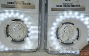 Greece 10 Drachmai 1976 1978 Ms65 Ngc Copper-nickel Km119 White 2 Coins
