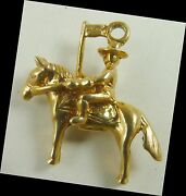 Rcmp Charm Royal Canada Mounted Police Vintage Solid 14k Gold 3d Horse