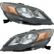 Headlight Set For 2014-2015 Honda Civic Coupe Left And Right With Bulb 2pc