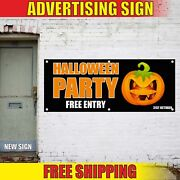 Halloween Party Advertising Banner Vinyl Sign Flag Haunted House Bar Decorations
