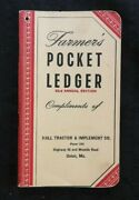 1949 John Deere Hall Tractor Implement Union Mo Route 66 Farmers Pocket Ledger
