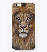 Lion Painting By Angela Anderson - An Error Occurred. Gift Phone Case Iphone