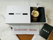 Dkny Stainless Steel Women's Watch Ny2286 Nwt Gold