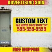 Has Moved Banner Advertising Vinyl Sign Flag We Are Moving New Business Custom