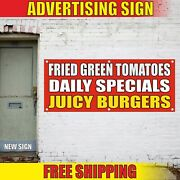 Burgers Banner Advertising Vinyl Sign Flag Daily Specials Fresh Best Hot Chili