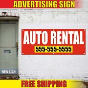 Auto Rental Banner Advertising Vinyl Sign Flag Car Town Truck Suv Pick Up Drop