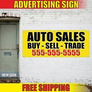 Auto Sales Banner Advertising Vinyl Sign Flag Service Repair Tire Buy Sell Trade