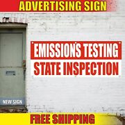 State Inspection Banner Advertising Vinyl Sign Flag Done Here Emissions Testing