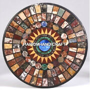 Marble Semi Precious Living Home Table Top Inlay Collectible Arts Decorate H4820