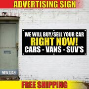 Car Suvand039s Banner Advertising Vinyl Sign Flag Auto Shop New Used Buy Sell 24