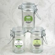 60 Personalized Cannabis Themed Apothecary Jar Wedding Bridal Shower Favors
