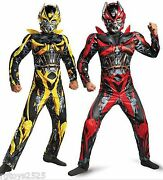 Transformers Size 4 6 Sm Bumblebee Stinger Reversible Muscle Costume New Child