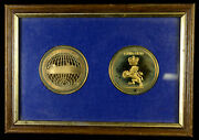Cunard Countess Bronze Medal Set In Picture Frame Great Gift Cruise Ship