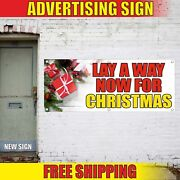 Lay A Way Now For Christmas Banner Advertising Vinyl Sign Flag Xmas Trees Gift