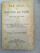 The Trial Of Boulton And Park With Hurt And Fiske 1871 Andndash Extremely Rare
