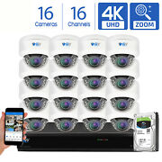 Gw 16 Channel Dvr 16 8mp Cctv Motorized Zoom 4k Dome Home Security Camera System