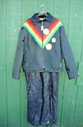 John Deere Vintage Snow Suit Coat Pants Bibs Liquifire 1980-1984 Winter J.d.