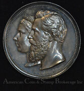 Germany 1884 Silver Wilhelm And Victoria Baltic Sea Holiday Colony Medal