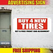 Tires Banner Advertising Vinyl Sign Alignment Flag Used New Sales Auto Repair