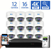 Gw 16 Channel Dvr 12 8mp Cctv Motorized Zoom 4k Dome Home Security Camera System