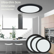 Led Ceiling Light Ultra-thin Dimmable Surface Mount Kitchen Bathoom Lamp Fixture