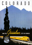 Chicago And Nw Union Pacific Railroad Denver Colorado Streamliner. Print/poster
