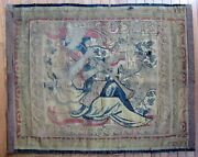 16th - 17th Century Tapestry Fragment Antique 37 By 47