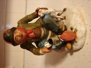 Homeless Man And Dog A Jim Stranger Original Whiskey Decanter  Very Old
