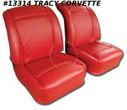 1961 Corvette Seat Covers 100 Black Leather In Stock Ships Same Business Day