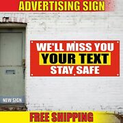 Weand039ll Miss You Banner Advertising Vinyl Sign Flag Birthday Retirement Stay Safe