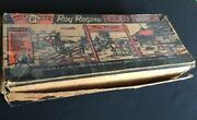 Marx Roy Rogers Rodeo Ranch Playset Original Box W/large Quantity Of Figures Etc