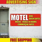 Motel Banner Advertising Vinyl Sign Flag Now Open Hotel Welcome Suites Rates New