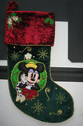 Collectible Disney Mickey Mouse Christmas Stocking 2007-2008